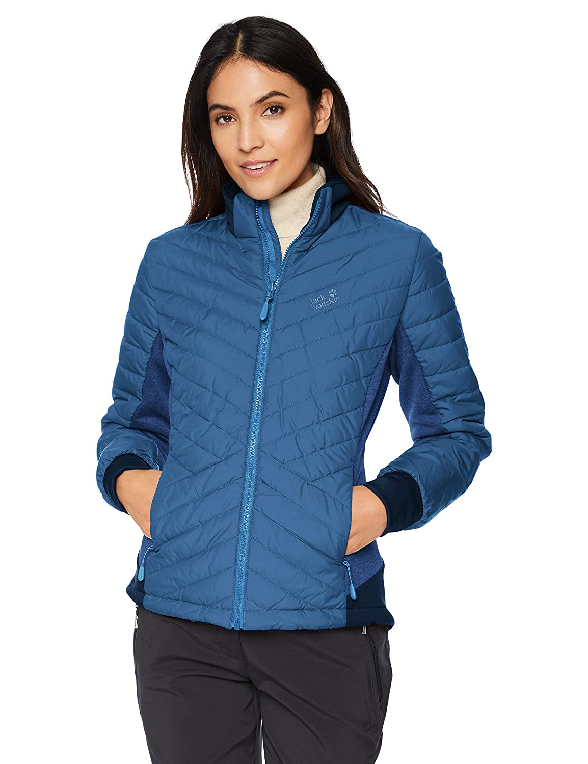 7daf6a0b21 Jack Wolfskin Women's Aurora Sky 3-IN-1 Waterproof Hybrid Down-Fiber  Insulated Jacket: Amazon.co.uk: Sports & Outdoors