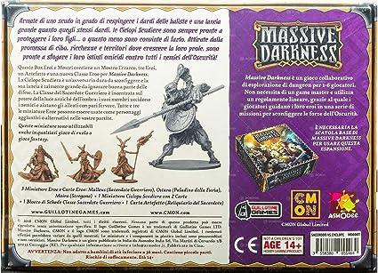 Asmodee Italia - Massive Darkness Sacerdoti Guerrieri VS - Ciclope Escuela expansión Juego de Mesa, Color, 10103: Amazon.es: Juguetes y juegos