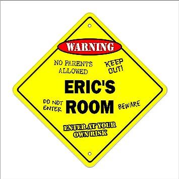 Mason/'s Room Decal Crossing Xing kids bedroom door children/'s name boy girl