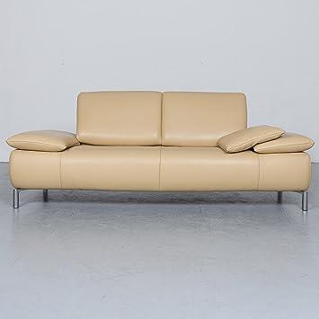 Amazonde Koinor Koya Designer Leder Sofa Beige Echtleder Couch 6403