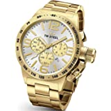 Tw Steel Cb84 Mens Stainless Steel Case Canteen Bracelet Silver Dial Gold Watch