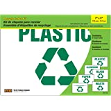 HY-KO Products KIT-10 Recycle Adhesive Vinyl Label Kit, 7 in x