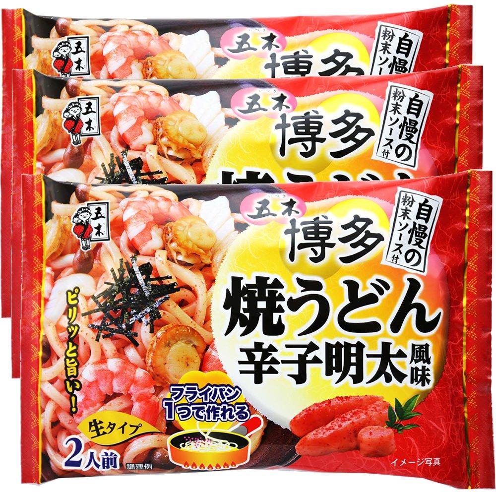 Itsuki food Hakata grilled noodles mustard pollack flavor 418gX3 bags