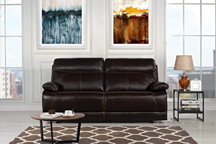 Amazon.com: Casa Andrea Classic Upholstered Leather Recliner ...