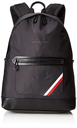 Tommy Hilfiger - Easy Nylon Backpack, Mochilas Hombre, Negro (Tommy Navy/Core