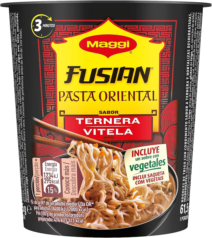 Maggi - Oriental Express Pasta Ternera - 62 g - [Pack de 8]: Amazon.es: Alimentación y bebidas