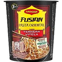 Maggi Fusian Pasta Oriental Noodles Sabor Ternera - Fideos Orientales, paquete de 8 x 62 gr - Total: 496 gr
