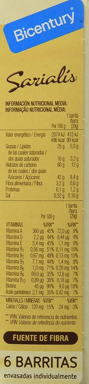 Bicentury Barrita Cereales Y Cacao Chocolate Blanco Sarialís ...