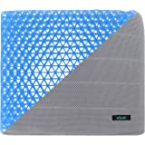 Vive Gel Seat Pad Cushion (Gray) - Orthopedic Seating for Cars, Outdoors, Stadium, Truck, Van, Office, Wheelchairs - For Coccyx, Butt Bone, Tailbone Pain, Lower Back, Sciatica - Sitting Pillow