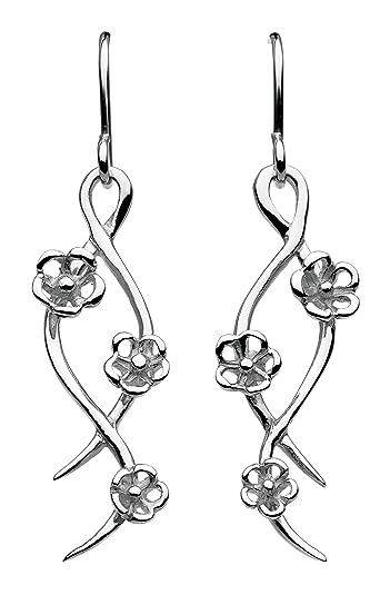 e585264ac Dew Sterling Silver Vine Twist Drop Earrings: Amazon.co.uk: Jewellery