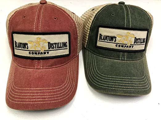 d0320dfeb74 Blanton s Bourbon Trucker Hat - Red (Green) at Amazon Men s Clothing ...