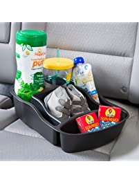 Rubbermaid 3371-00 Automotive Portable Tote Bin Organizer: Passenger Seat/Car Cargo Area Storage Caddy with Leakproof...
