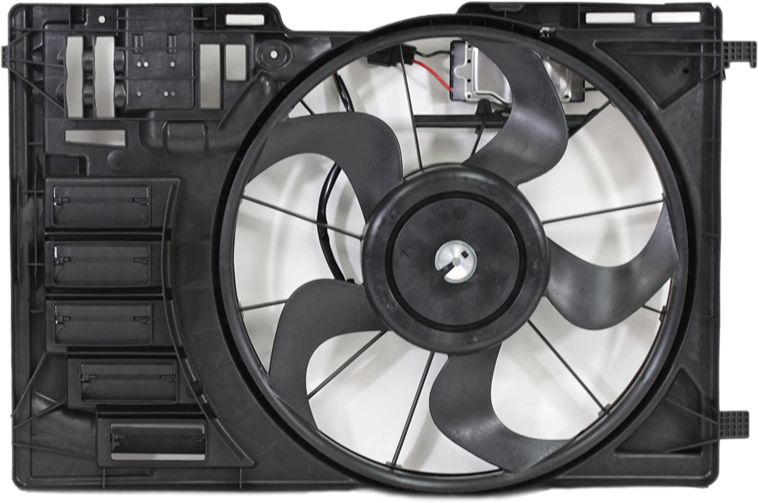 Dual Radiator and Condenser Fan Assembly - Cooling Direct For/Fit FO3115188 13-June'15 Ford Escape 2.0L Turbo WITH Fan Control Module
