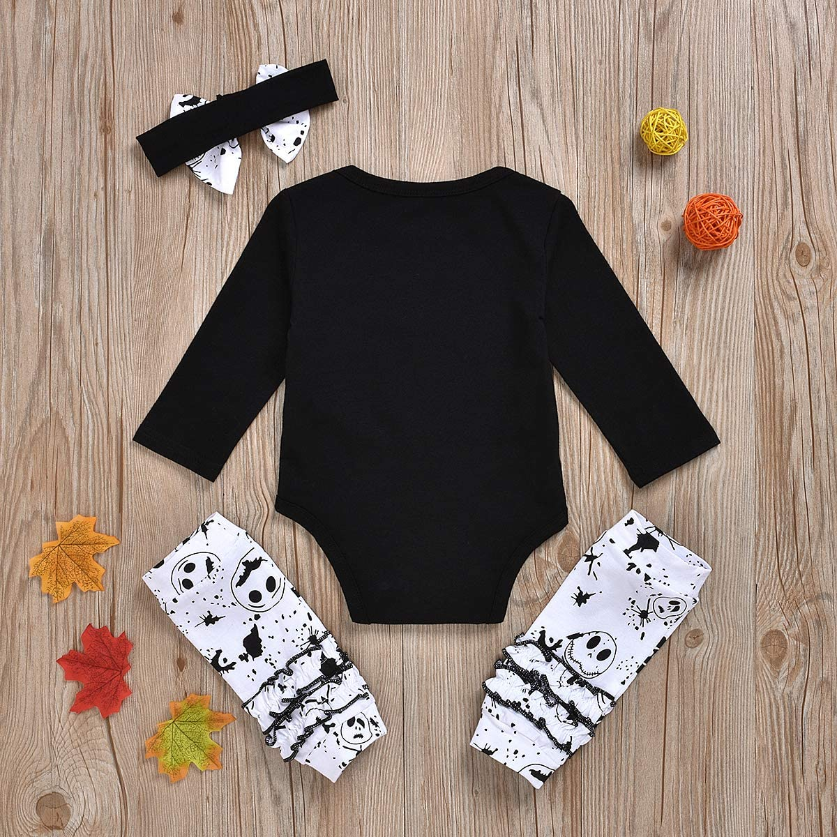 Skull Pants Nightmare Before Pajamas Claus Sets DaceStar 2PCs Outfits Newborn Toddler Baby Boy Girl Clothes Long Sleeve Letter Print T-Shirt