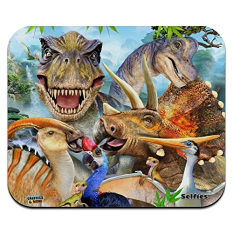 T Rex Dinosaur Personalised Computer Mouse Mat