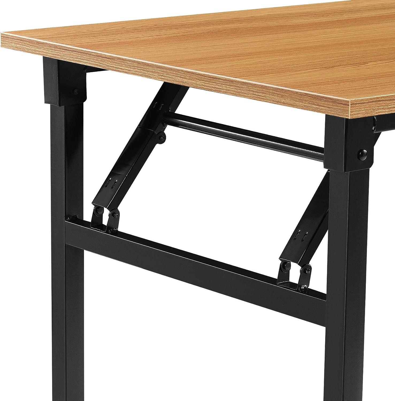 /® Neu.Haus Table Pliante Table Cuisine Hauteur r/églable pour 4 Personnes 120 x 60 x 75-76,4cm Brun fonc/é et Noir