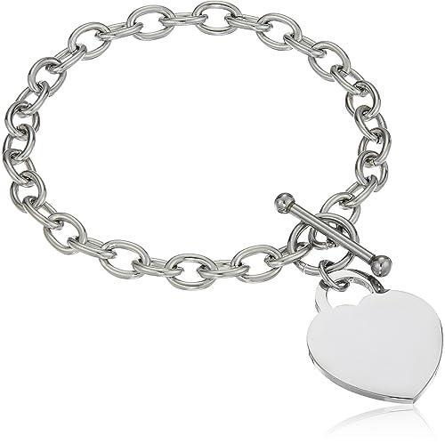 Amazon.com: Elya joyería para mujer pulsera de acero ...