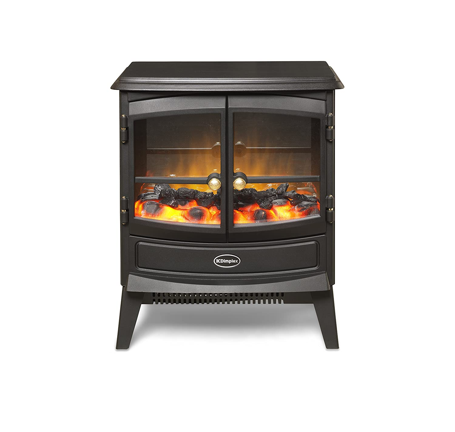 Dimplex 046376 CVL20N Courchevel Electric Stove with Optiflame Effect, 2 kW, 230 W CVL20E