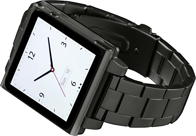 Hex Hx1026 Gnmt Vision Reloj Banda De Metal Para Ipod Nano 6 G Gunmetal Talla única Gris Plomizo Electronics
