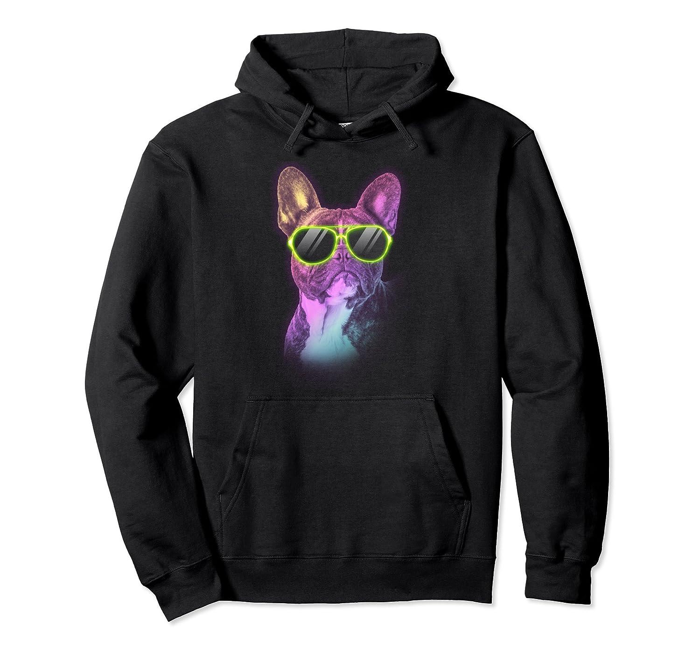Disco French Bulldog Neon Dog Hoodie Dog Lover Frenchie Gift- TPT