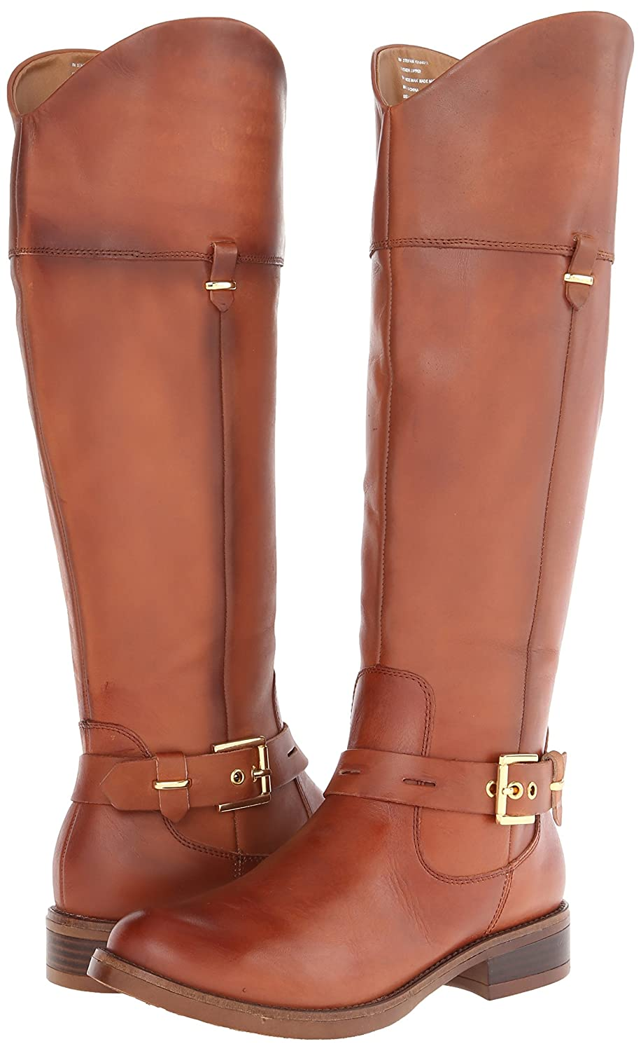 Deluxe Adult Costumes - Assassin's Creed Liberation Women's Stefan Cognac Knee High Leather Buckle Straps Riding Boots by Kensie