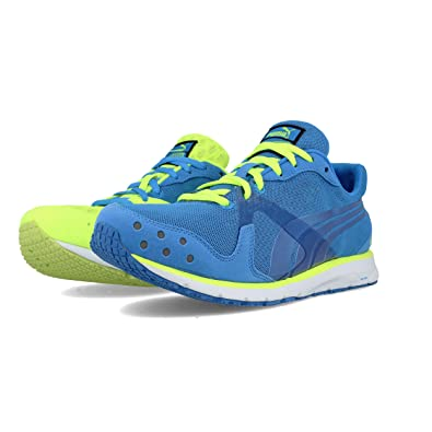 fdcfc0021ea5 Puma Mens FAAS 300 V2 Running Shoes Trainers - Blue Fluo Yellow  Amazon.co. uk  Shoes   Bags