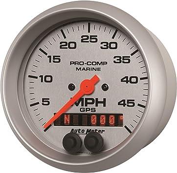 Marine White Speedometer Auto Meter AutoMeter 200635 Gauge 3 3//8 50Mph GPS