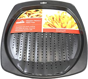 Non-Stick Coated Pan for Frozen French Fries, Tater Tots - Perforated for Even Airflow - Oil Free Cooking