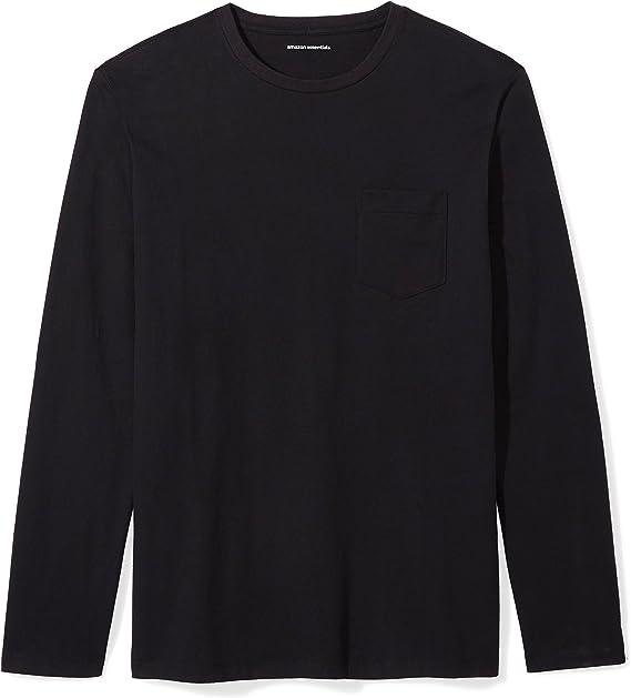 ottima vestibilità ultima moda sconto più votato Amazon.com: Amazon Essentials Men's Slim-Fit Long-Sleeve Pocket T ...