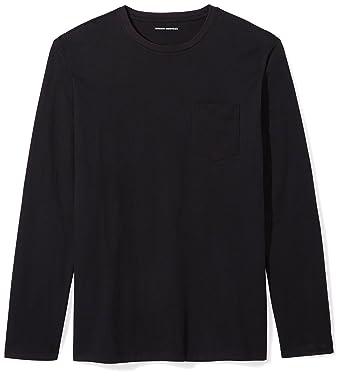 a147a5b0 Amazon.com: Amazon Essentials Men's Slim-Fit Long-Sleeve Pocket T ...
