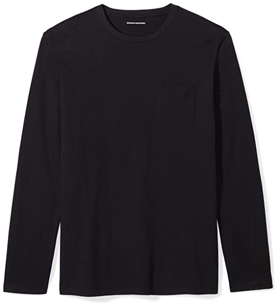 9a68bba0fd Amazon Essentials Men's Slim-Fit Long-Sleeve Pocket T-Shirt