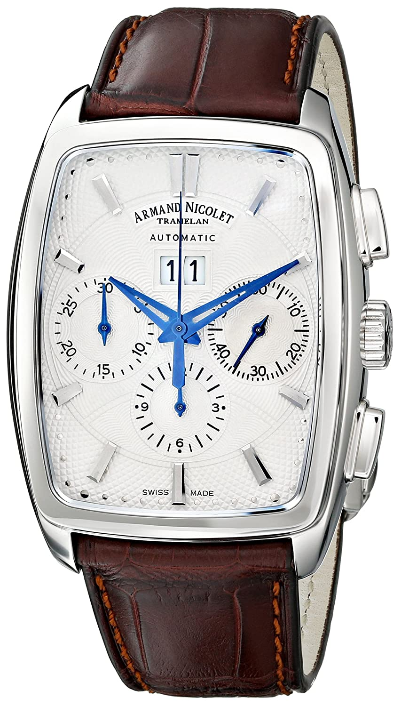 Armand Nicolet 9638A-AG-P968MR3 - Reloj de pulsera hombre, color marrón: Amazon.es: Relojes