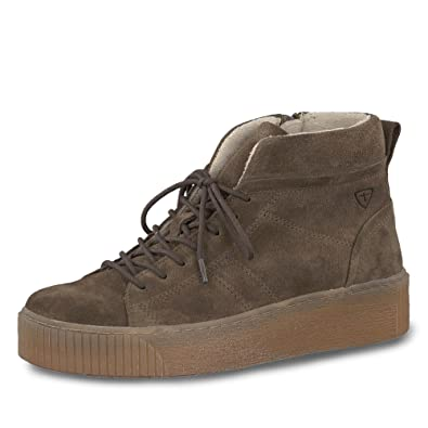 Tamaris Damen Plateau High Top Sneakers Grün (Khaki)
