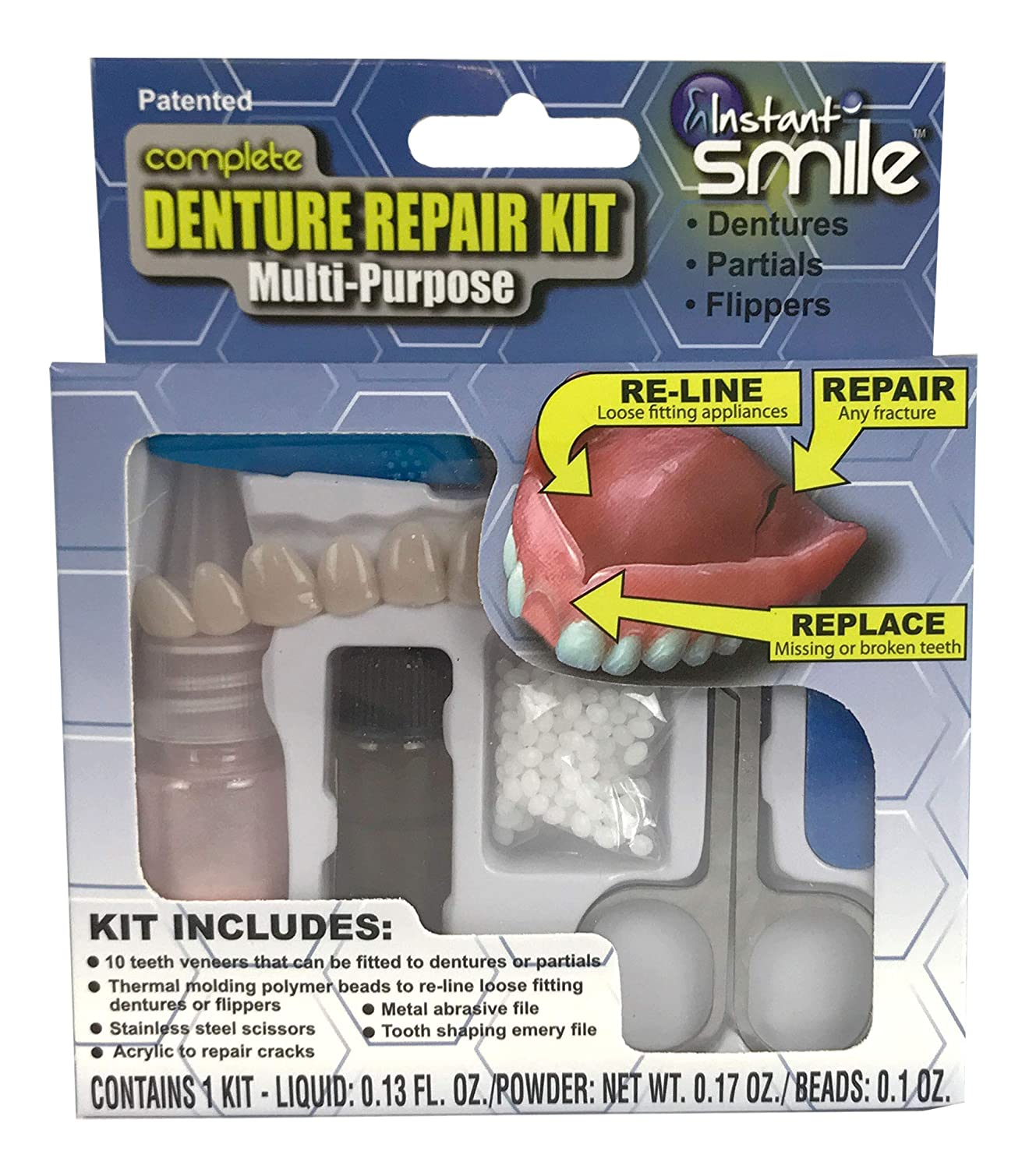 Instant Smile Complete Denture Repair Kit