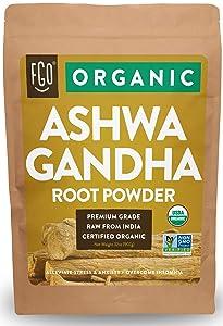 Organic Ashwagandha Root Powder   32oz Resealable Kraft Bag (2lb)   100% Raw from India   by FGO