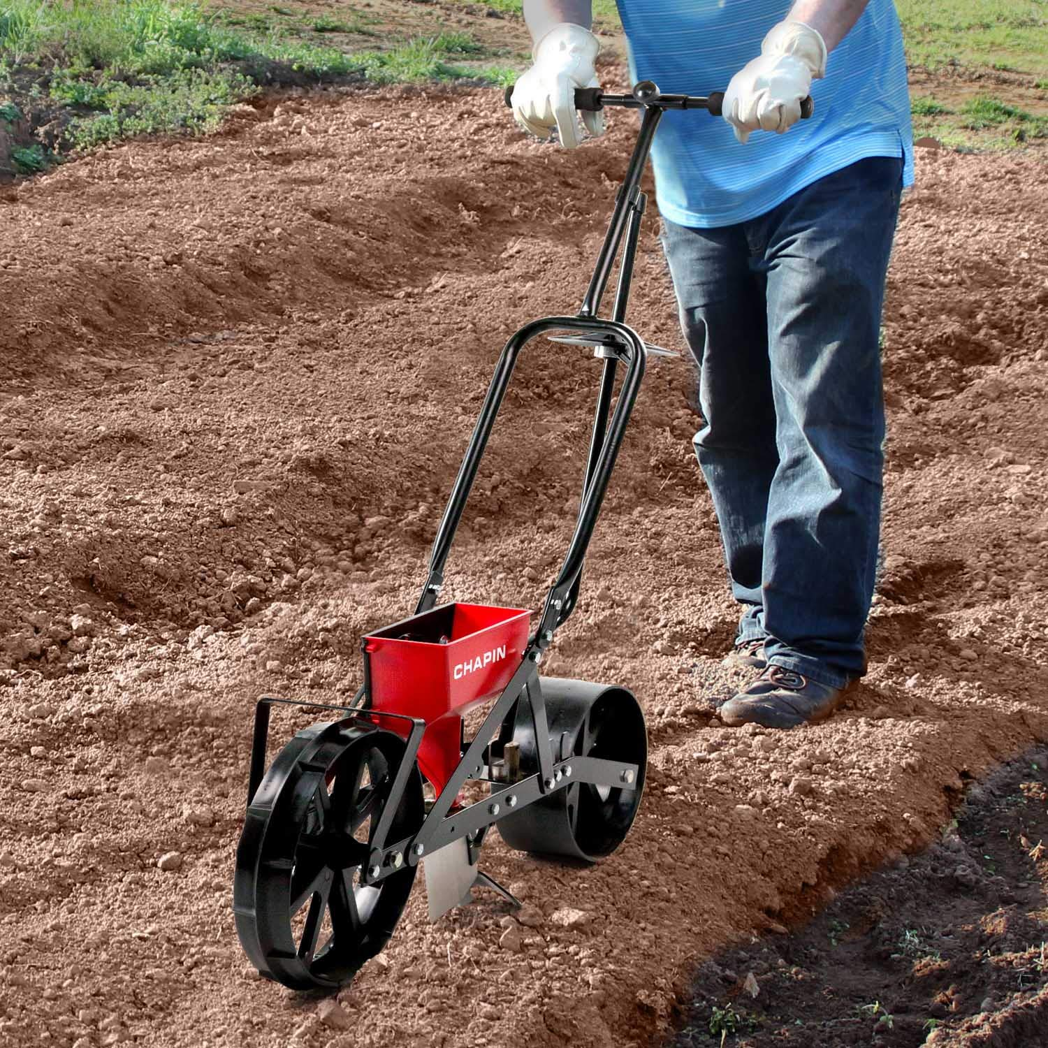 Chapin 8701B Garden Push seeder With 6 Seed Plates for Up to 20 Varieties Of Seeds, (1 Garden Seeder/Package) by Chapin International (Image #5)