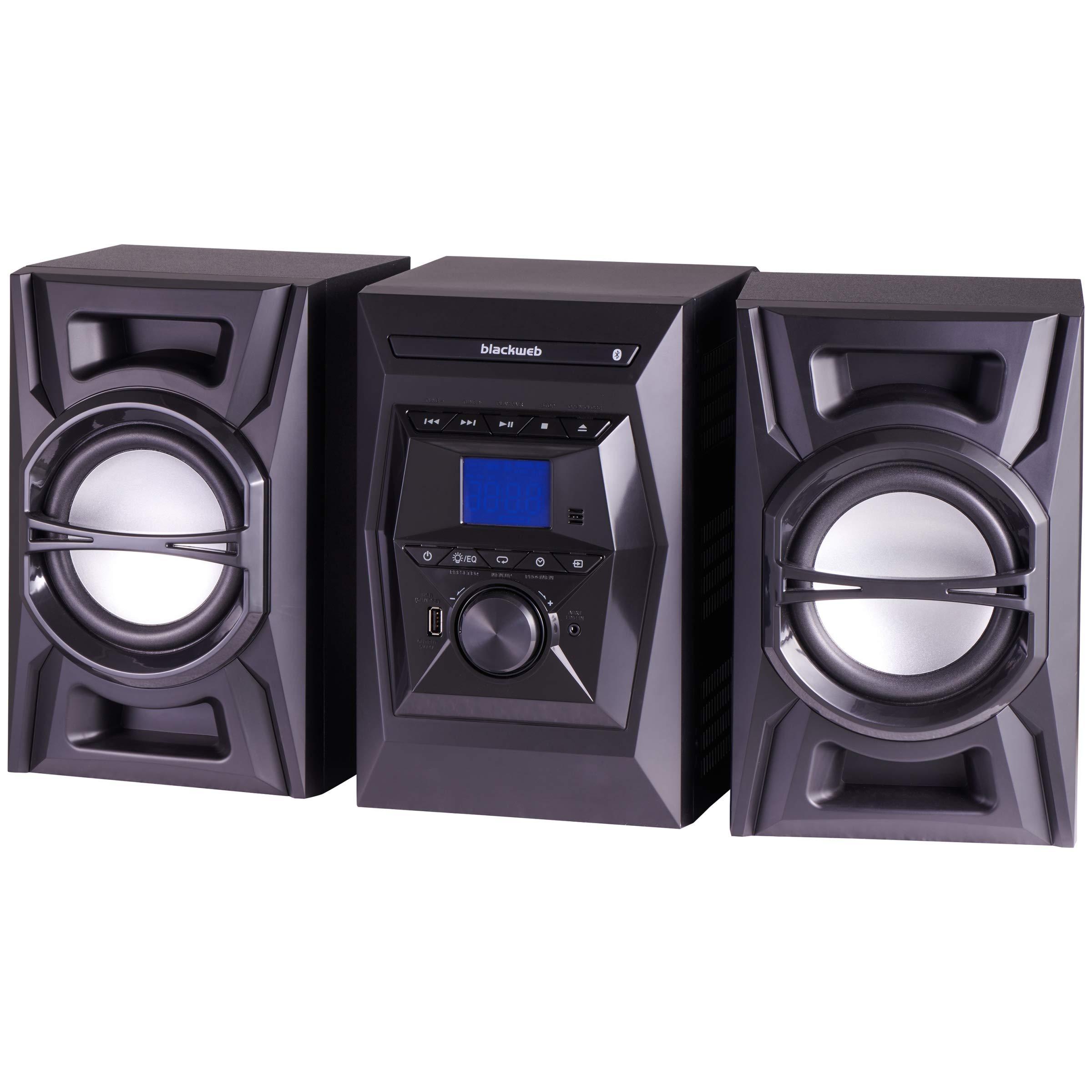 Black Web BWA17AA005 100W Bluetooth CD Stereo System