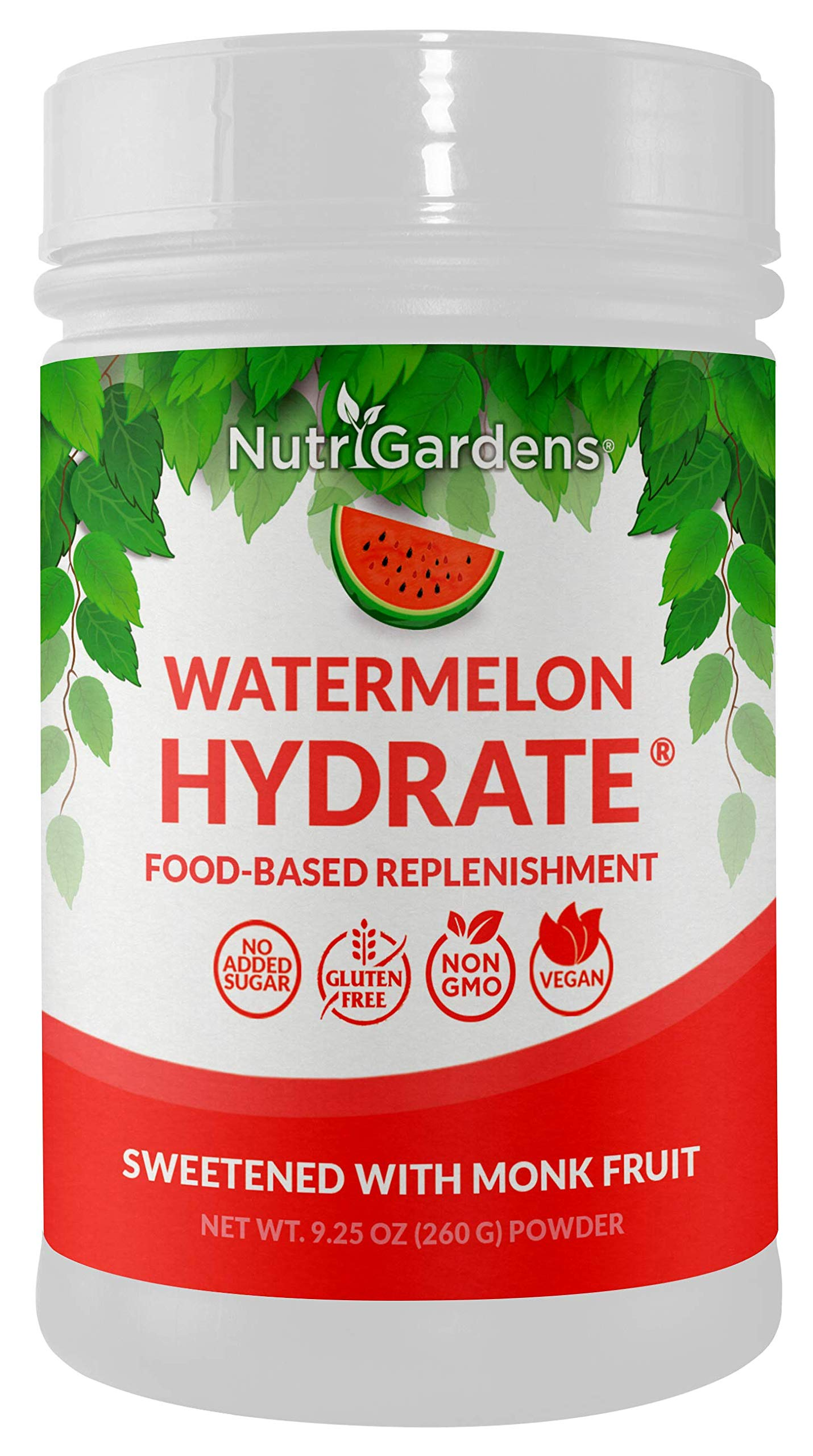 Amazon.com: Watermelon Hydrate® – Electrolyte Hydration Powder. Replace Lost Electrolytes from Sweat. 100% Plant-Based Recovery Drink with Trace Minerals.