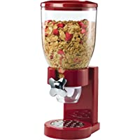 Zevro Indispensable Dry Food Dispenser Single Control (Red/Chrome)