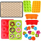 Silicone Baking Set, 31PCS Nonstick Silicone Bakware Set with Donut Pans,Silicone Muffin Pan, Bread Loaf Mold,Cupcake…