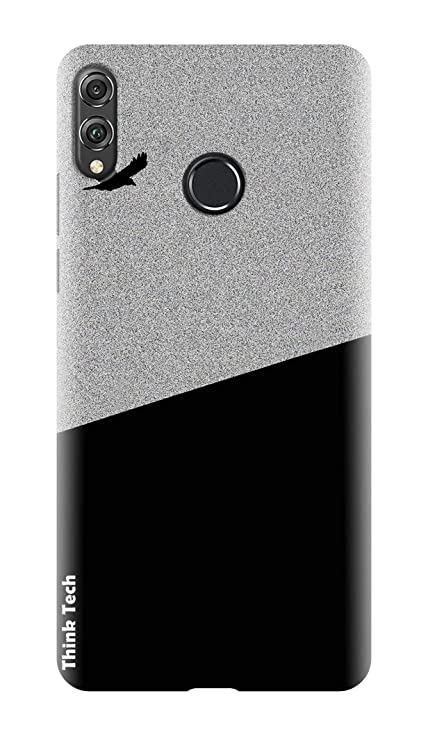 Think Tech Huawei Honor 8X Printed Hard Back case Cover I Honor 8X Designer  Case - Black Grey Boy Man Latest Under