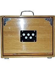NEW SHRUTI BOX~BHAJAN~SWAR PETI~TEAK WOOD HANDY C TO C 13 NOTE WITH BAG