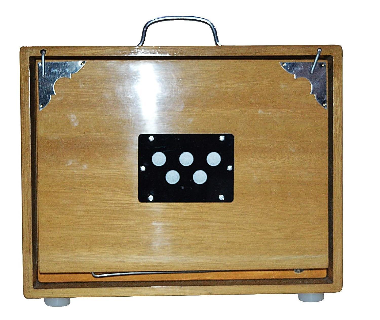 SHRUTI BOX~MED SIZE~(12 X 9 X 2.5)~TEAK WOOD~C TO C~440 Hz~HAND MADE INDIAN Nasir ali.co