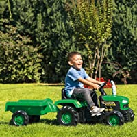 DOLU Pedal Operated Ride On Tractor with Trailer