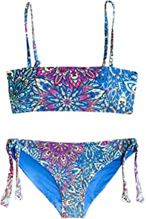 Point Conception Girls Triangle Bra Bikini Set Splash