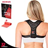 PRO PERFORMANCE+ Posture Corrector | Clavicle Support For Upper Back Neck & Shoulders | Corrects Bad Posture | Fully Adjustable Back Brace For Men & Women | Bonus Exercise Band & E-Book