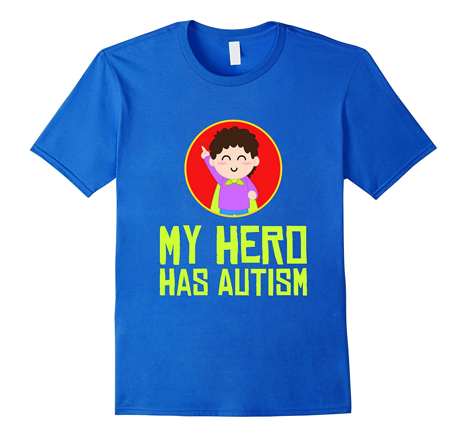 FUNNY MY HERO HAS AUTISM T-SHIRT Superhero Gift-CD