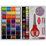 cnomg 糸 常備糸 手縫い系 ミシン縫い糸 裁縫道具セット 手芸 簡易な収納箱付き 64個セット