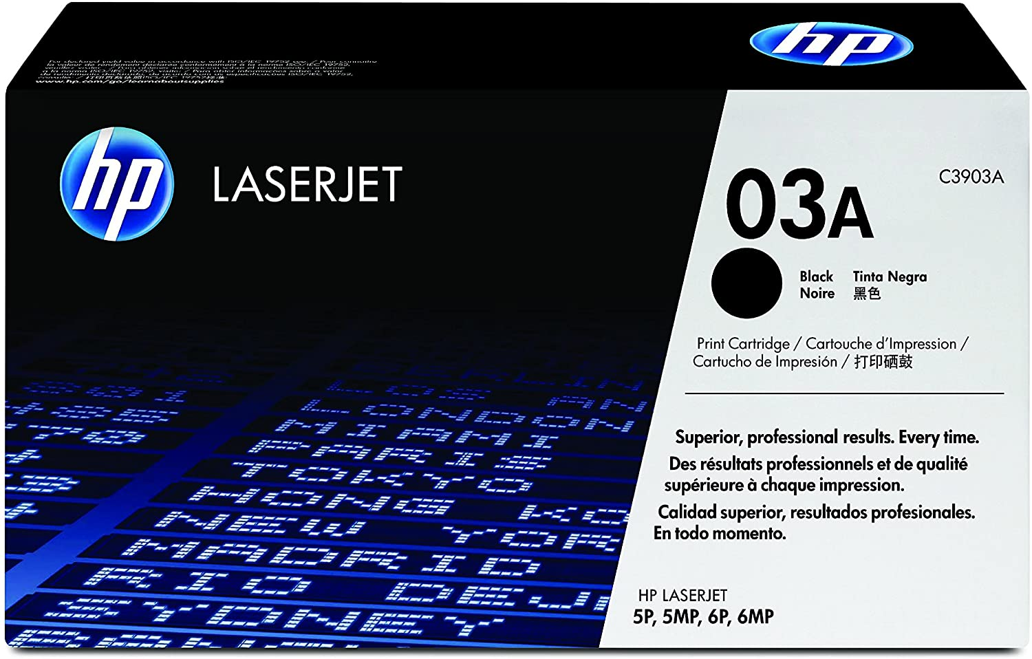 HP 03A (C3903A) Black LaserJet Toner Cartridge DISCONTINUED BY MANUFACTURER