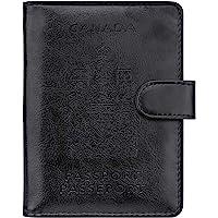 WALNEW RFID Blocking Passport Holder Travel Wallet Cover Case